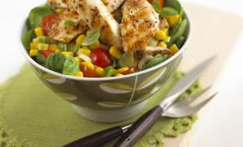 Lemon Basil Chicken and Corn Salad