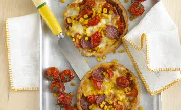 Pepperoni and Sweet Corn Tarts